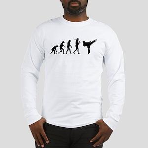The Evolution Of Karate Long Sleeve T-Shirt