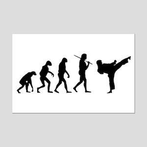 The Evolution Of Karate Mini Poster Print