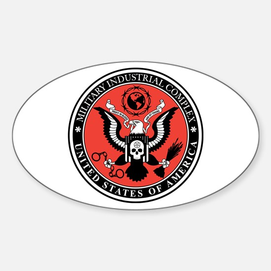 Military Industrial Complex Sticker (Oval)