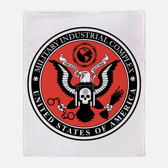 Military Industrial Complex Throw Blanket