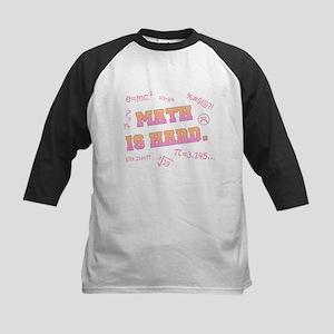 Math is Hard Kids Baseball Jersey