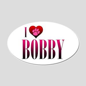I Heart Bobby 22x14 Oval Wall Peel