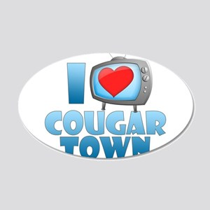 I Heart Cougar Town 22x14 Oval Wall Peel