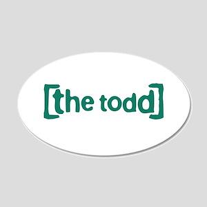 The Todd 22x14 Oval Wall Peel
