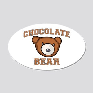 Chocolate Bear 22x14 Oval Wall Peel