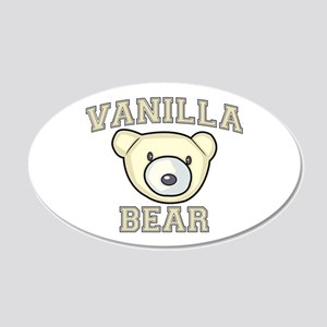 Vanilla Bear 22x14 Oval Wall Peel
