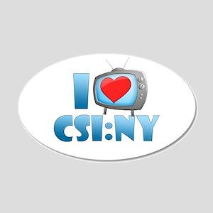 I Heart CSI: NY 22x14 Oval Wall Peel