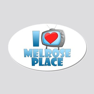 I Heart Melrose Place 22x14 Oval Wall Peel