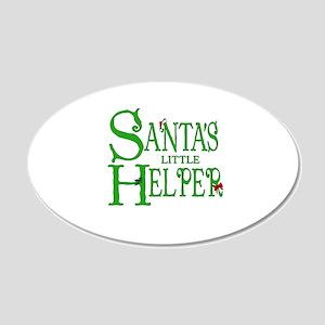 Santa's Little Helper 22x14 Oval Wall Peel