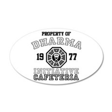 Dharma Initiative - Cafeteria 22x14 Oval Wall Peel