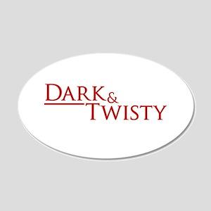 Dark & Twisty 22x14 Oval Wall Peel