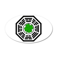 Dharma Initiative Shamrock St 22x14 Oval Wall Peel