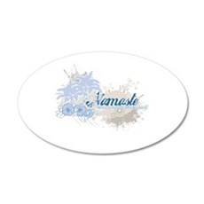 Blue Namaste 22x14 Oval Wall Peel