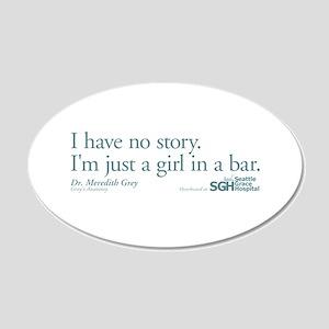 Girl in a Bar -Grey's Anatomy 22x14 Oval Wall Peel