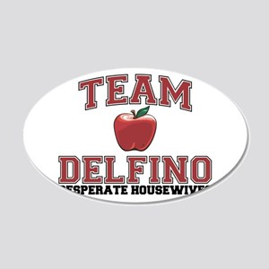Team Delfino 22x14 Oval Wall Peel
