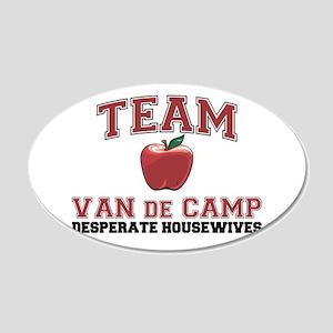 Team Van de Kamp 22x14 Oval Wall Peel