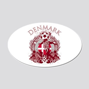 Denmark Soccer 22x14 Oval Wall Peel
