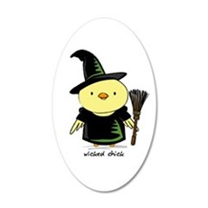 Wicked Chick 22x14 Oval Wall Peel