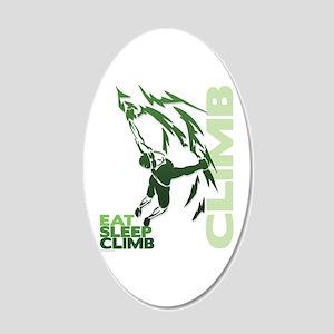 Eat Sleep Climb 22x14 Oval Wall Peel