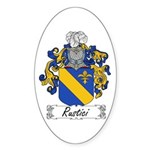 Rustici Coat of Arms Oval Sticker