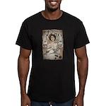 Vintage Mucha Men's Fitted T-Shirt (dark)