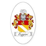 Ruggieri Family Crest Oval Sticker