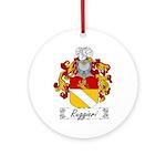 Ruggieri Family Crest Ornament (Round)