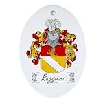 Ruggieri Family Crest Oval Ornament