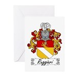 Ruggieri Family Crest Greeting Cards (Pk of 10
