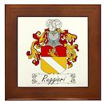 Ruggieri Family Crest Framed Tile