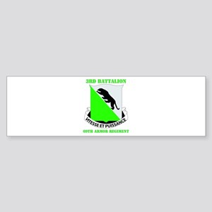 DUI - 3rd Bn - 69th Armor Regt with Text Sticker (
