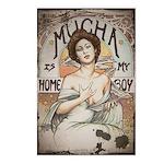Vintage Mucha Postcards (Package of 8)