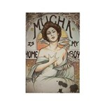 Vintage Mucha Rectangle Magnet (10 pack)