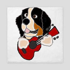 Bernese Mountain Dog Guitar Art Queen Duvet