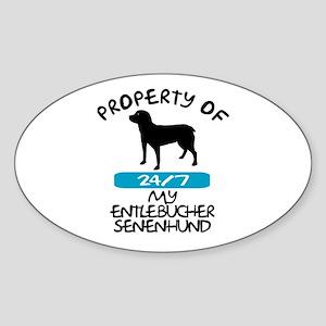 Entlebucher Senenhund Oval Sticker