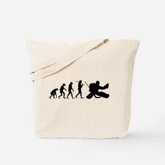 The Evolution Of The Hockey Goalie Tote Bag
