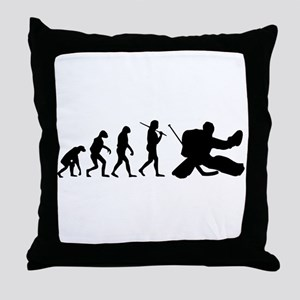 The Evolution Of The Hockey Goalie Throw Pillow