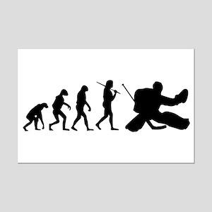 The Evolution Of The Hockey Goalie Mini Poster Pri