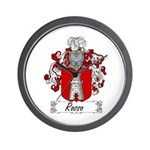 Rosso Family Crest Wall Clock
