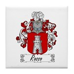 Rosso Family Crest Tile Coaster