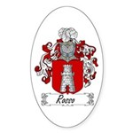 Rosso Family Crest Oval Sticker