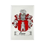 Rosso Family Crest Rectangle Magnet
