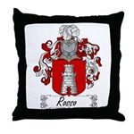 Rosso Family Crest Throw Pillow
