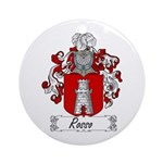 Rosso Family Crest Ornament (Round)