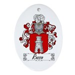 Rosso Family Crest Oval Ornament