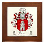 Rosso Family Crest Framed Tile