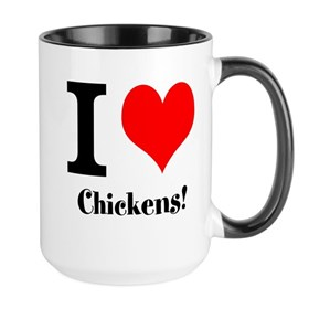 I heart Chickens Large Mug