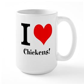 I heart Chickens Large Mug