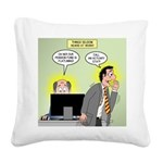 Call an Actuary Stat Square Canvas Pillow