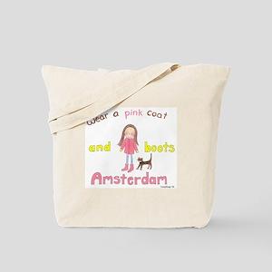Pink Coat Tote Bag